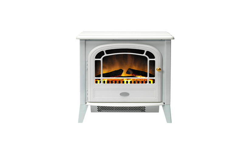 Courcheval Optiflame White Stove, 1/2kW or Effect Only