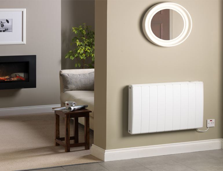 Q Rad Electric Heater In Living Room